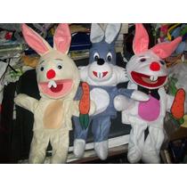 Gcg Lote De 3 Titeres Conejos Fieltro Bocon Guante Artesanal