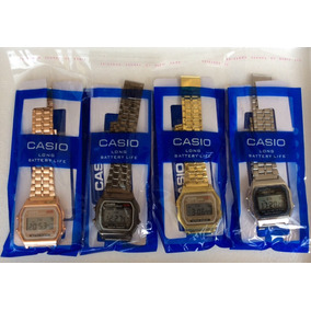 Reloj Clasico Vintage Retro A159 W Metalico Unisex 4 Colores