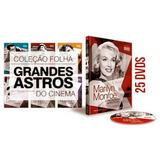 Coleção Folha Grandes Astros Do Cinema 25 Volumes Lacrados