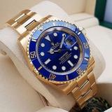 Relógio Rolex Vintage Gold 18k Submariner Blue+cxa E Papeis!