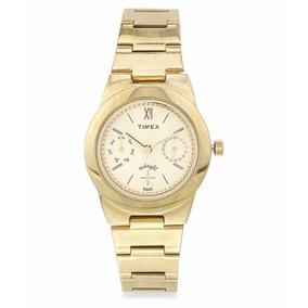 Reloj Timex Para Dama Tw000j105 Dorado Mulfunción Original*