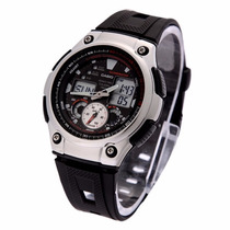 Relógio Casio Masculino Analógio E Digital Aq-190w-1avdf