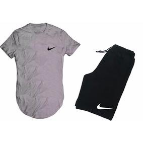 Kit Bermuda Moletom +camiseta Nike Sb Luta Long Line Sweg