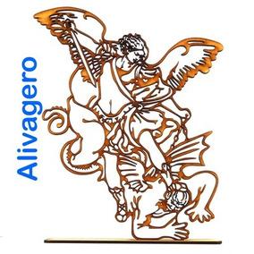 10 Figuras San Miguel Arcángel 30 Cm En Madera Mdf De 3 Mm