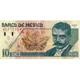 Billete 10 Pesos Mexico Zapata