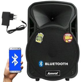 Caixa Som Amplificada Bluetooth Bateria Recarregável 180wrms