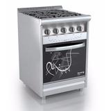 Cocina Morelli 600 Style Inox Encendido 6 Cuotas