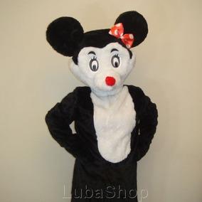 Roupa De Fantasia De Mascote Minnie Pelúcia Adulto