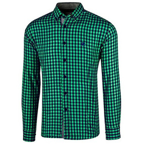 Camisa Polo Club Ca02050 Verde Marino Pv