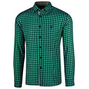 Camisa Polo Club Ca02050 Verde Marino Caballero Oi