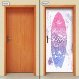 Adesivo Decorativo De Porta - Prancha De Surf - 441mlpt