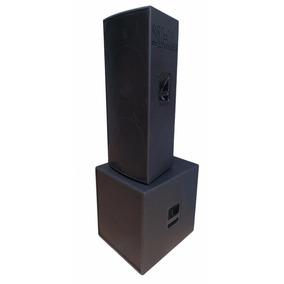 Caixa Ativa Sub 18 + 2x15+ti 2400w Profissional Amplificado