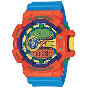 Reloj Análogo, Esfera Con Indicadores Lcd Ga-400-4a