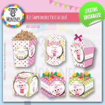 Kits Imprimible Cumpleaños Patita Lulú Canciones Del Zoo