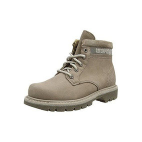 Botas Cat Bruiser Lady Plus (gris Claro)! Borcegos Dama Cat