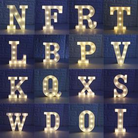 1 Letra Luminária Led 3 D Decoração Luminosa De A - Z 0 - 9
