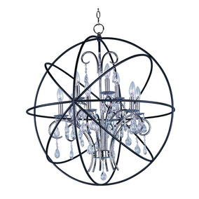 Lampara Candil Colgante Orbit 9 Esfera Araña Crisal Maxim