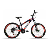 Bicicleta Aro 26 Vikingx X25 21v Shimano Vmax Spinner Roxo