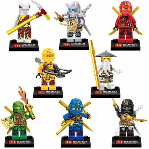 Kit 8 Bonecos Compativel Lego Ninjago - Olhar As Fotos. Cod3