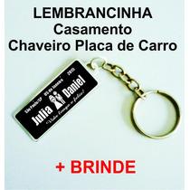 Lembrancinhas De Casamento Chaveiro Placa Carro + Brinde