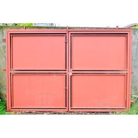 Portones de hierro para garage aberturas portones en for Portones de hierro para garage