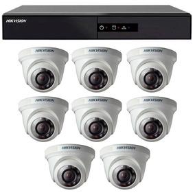 Kit Cftv 8 Câmeras Segurança Hd 720p Dvr Hikvision 8 Canais
