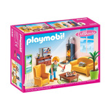 Retromex Playmobil 5308 Sala De Estar Con Fuego Dollhouse