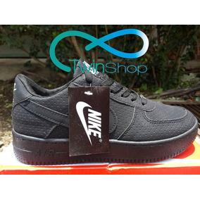 Zapatos Deportivos Nike Air Force One Negro Miel Gamuzadoaf1