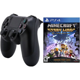 Control Ps4 Con Juego Minecraft Story Mode Ps4 Playstation 4