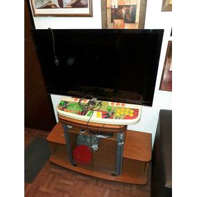 Mesa De Tv Y Mini Componentes Con Ruedas Y Base Giratoria