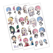 Plancha De Stickers De Anime Re:zero