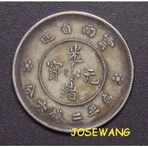 50 Cents, Moneda Antigua De China Del Año 1911 Plata Origina