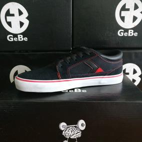 Zapatillas Gebe Hummer Negro-rojo - Skate Tipo Vans