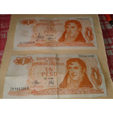 Lote Billetes 1 Peso Colección Se Vende Lote Entero