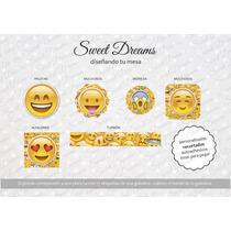 Stickers De Emoticones Cortados Para Candy Bar O Mesa Dulce