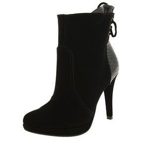 Bota Feminina Ankle Boot Preta Via Marte - 172403