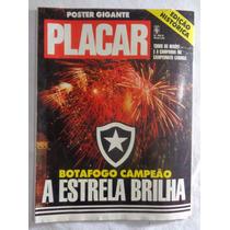 Revista Placar Pôster Botafogo Campeão 1989 Futebol