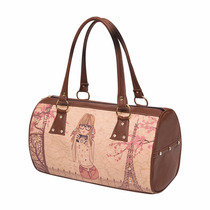 Hermosa Bolsa Tipo Maletin Con Estampato Y Pedreria 143557