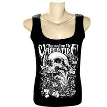 Camiseta Regata Feminina Rock Bandas Bullet For My Valentine