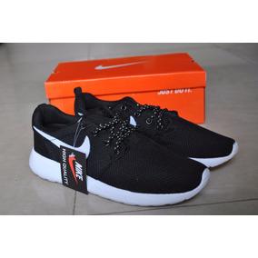 Kp3 Zapatos Nike Roshe Run Logo Blanco Para Damas