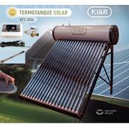 Termotanque Solar 200l + Controlador Elect + Accesorios