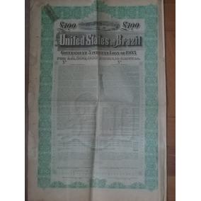 Apolice 100 Libras United States Of Brazil 1903 Specimen
