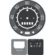 Kit Adesivo Velocímetro + Relógio Combustível - Fusca 70a76