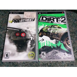 Lote Psp Sony Juegos Dirt 2 Need For Speed Prostreet