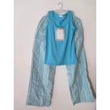Pijama De Mujer, Pantalón Largo Nueva, Talla Xs