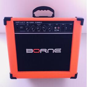 Amplificador Cubo Contra Baixo Borne Impact Bass Cb60 Orange