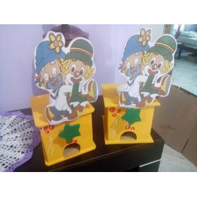 Chicleras Madera Centro Mesa Infantil Personalizados