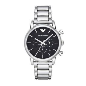 Reloj Emporio Armani Hombre Modelo Ar1853 Plata Negro