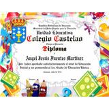 Diplomas Títulos Pergamino Preescolar Bachiller Universitari
