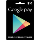 Cartão Google Playstore Gift Card Android R$10